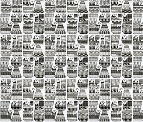 Scandinavian Birds fabric by marleens_little_house on Spoonflower - custom fabric