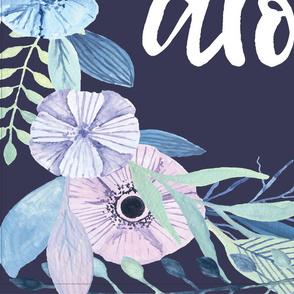 Aloha Blue Wreath Blanket + 2 Loveys
