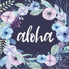 Aloha Wreath Loveys 6UP Blue