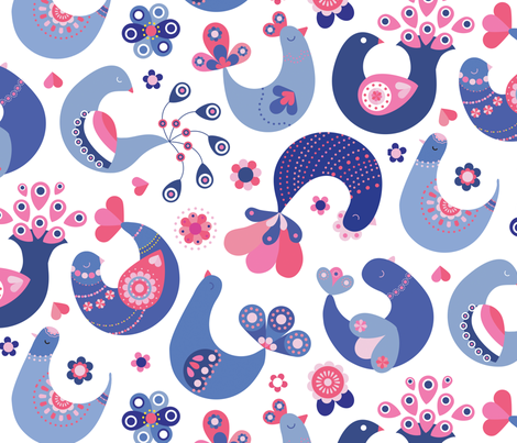 scandi fabric by lisahilda on Spoonflower - custom fabric