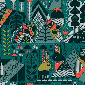 Scandinavian forest friends