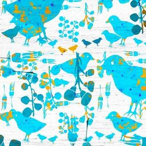 scandinavian folk art birds