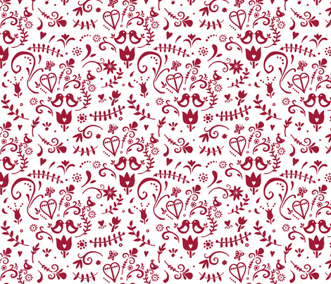 RedScandi fabric by dalesimpsondesign on Spoonflower - custom fabric