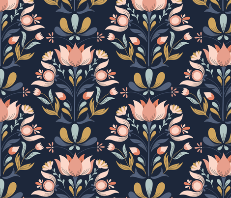 Hundred flowers fabric by jeahdesign on Spoonflower - custom fabric