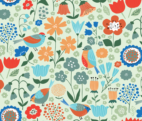Nordic Winter Garden fabric by studio_amelie on Spoonflower - custom fabric