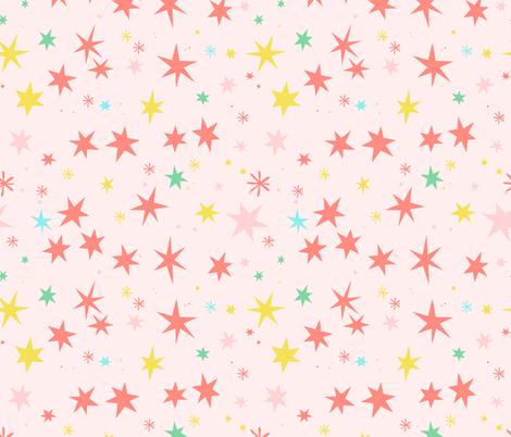 Gemini constellation fabric by charlotte_lorge on Spoonflower - custom fabric