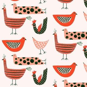 modern folk birds