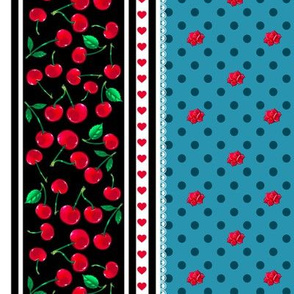 Rockabilly Cherry  Stripe 2