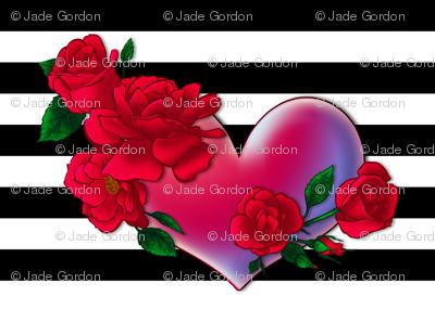 Rose Heart Stripe 1