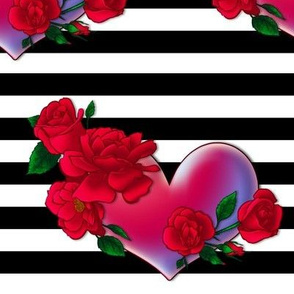 Rose Heart Stripe 1