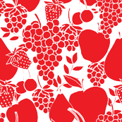 Berries, Cherries, Pears, Apples & Grapes_Red and white