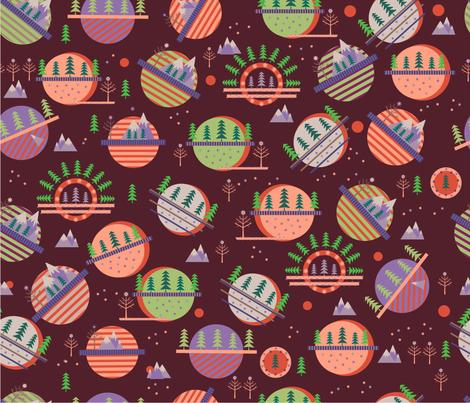 Coniferous planet fabric by inna_alborova on Spoonflower - custom fabric
