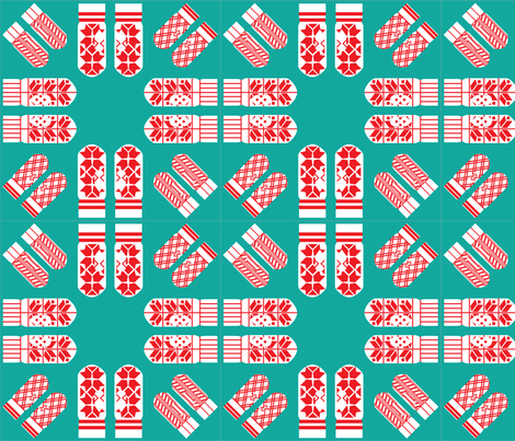 Selbu Mittens fabric by enjohnson on Spoonflower - custom fabric