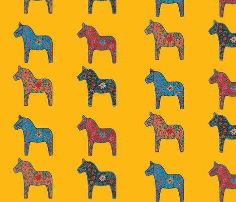 Dala Horse-ch fabric by mirima on Spoonflower - custom fabric