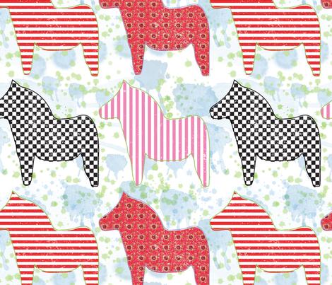 Dala Gala fabric by orangefancy on Spoonflower - custom fabric