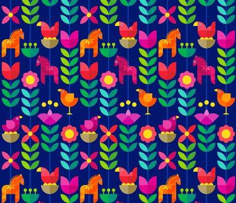 Scandinavian Stripe – Midnight fabric by beverley_glanville on Spoonflower - custom fabric