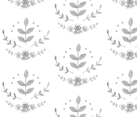 Scandinavian Florals fabric by coledawndesigns on Spoonflower - custom fabric