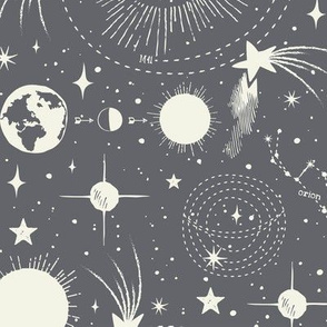 Solar System - Charcoal Grey
