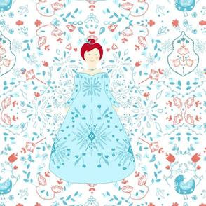 Scandinavian Princess in turquoise