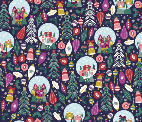 Winter Wonderland fabric by oliveandruby on Spoonflower - custom fabric