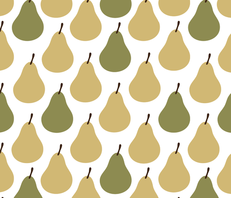 Perfectly Pear fabric by sarahbrubeck on Spoonflower - custom fabric