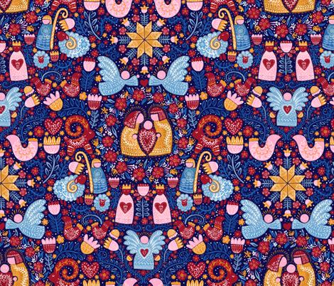 Scandinavian Christmas Story fabric by helenpdesigns on Spoonflower - custom fabric