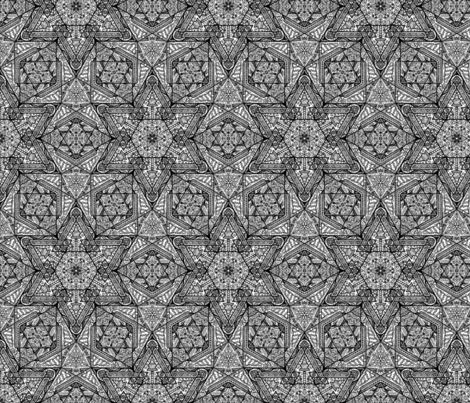 Scandinavian Star Pattern fabric by sarah_madchen on Spoonflower - custom fabric
