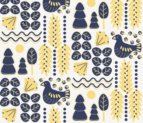 Nocturne fabric by hiirikki on Spoonflower - custom fabric
