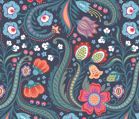 Skandelska fabric by kokara on Spoonflower - custom fabric