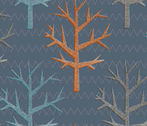 trees_scandinavia_plus fabric by li_moon on Spoonflower - custom fabric
