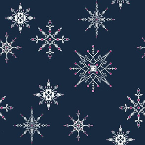 Sketched Snowflakes { medium }