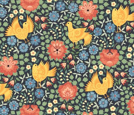 Swedish folklore fabric by stinawina on Spoonflower - custom fabric