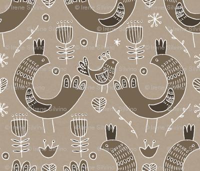 Pattern #103 - Scandinavian birds