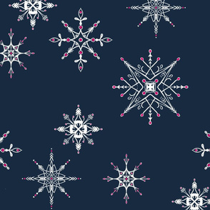 Sketched Snowflakes { large }