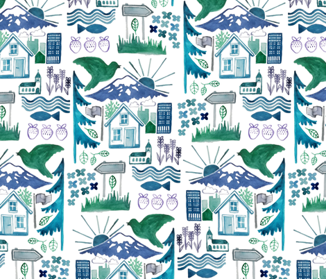 scandi summer in the north fabric by mrshervi on Spoonflower - custom fabric