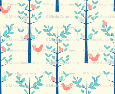 Scandi Birds and trees