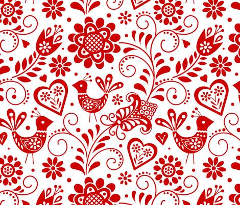 Scandinavian folk fabric by olgart on Spoonflower - custom fabric
