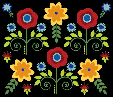scandanavian-floral fabric by ecs-designs on Spoonflower - custom fabric