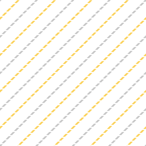 Sweet Dreams Stripes Yellow and Gray fabric by jannasalak on Spoonflower - custom fabric