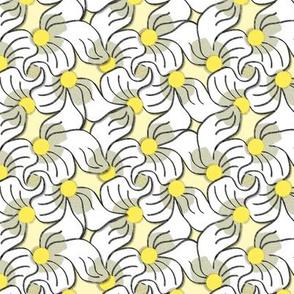 Yellow Three Petaled Flowers