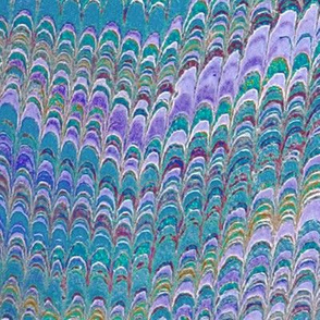 Marbled Paper ~ Peacock ~ Large