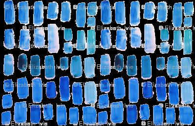 true blue watercolor mosaic // small