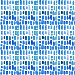 true blue watercolor mosaic // small