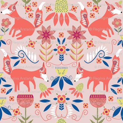 Fox Trot Scandinavian Folk Art