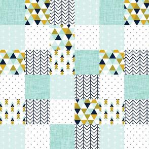 "aqua adventurer patchwork wholecloth // 3"""