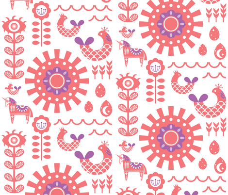 Mayhem fabric by mayhem_flamingo on Spoonflower - custom fabric
