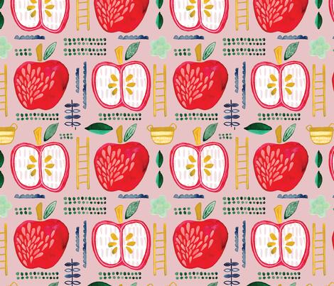 appleorchardpattern fabric by alexis_johnson on Spoonflower - custom fabric