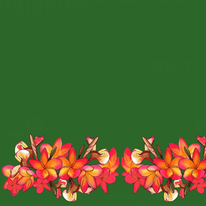 Coloured Frangipani Green Bkgd3 Mirror Large