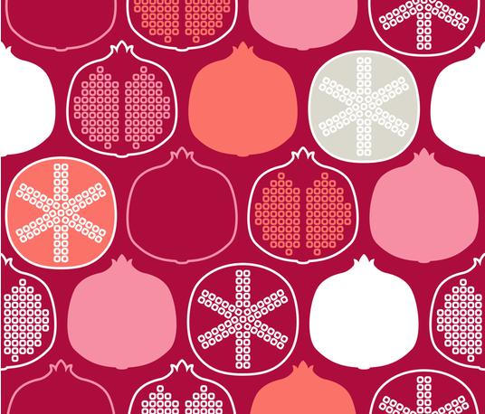EA_Scandi_1218_Pomegranate fabric by malicia on Spoonflower - custom fabric
