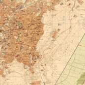 Cairo vintage map, large